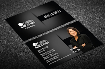 United country real estate business cards free shipping black silver united country business card template accmission Images
